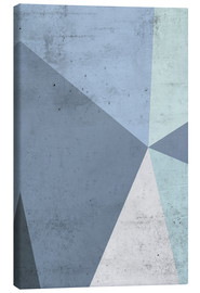 Canvas  winter geometry - Emanuela Carratoni