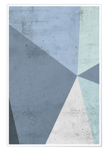 Premium poster Winter geometry