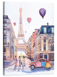 Canvas print  Eiffel Tower and Citroen 2CV in Paris - Anastasia Mamoshina