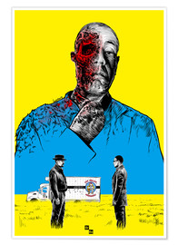 Premium poster  Breaking Bad Gus Fring death whit blood - Paola Morpheus