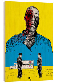 Wood  Breaking Bad Gus Fring death whit blood - Paola Morpheus