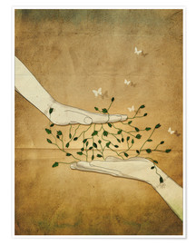 Poster  Let's grow together - Sybille Sterk