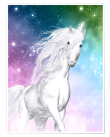 Premium poster  Unicorn - Surprise - Dolphins DreamDesign