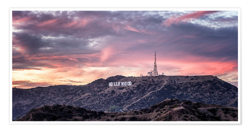 Premium poster  Hollywood Hills