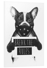 Foam board print  Break the rules, rebel dog - Balazs Solti