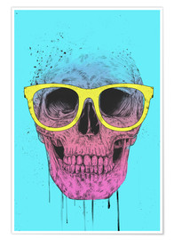 Premium poster Pop art skull with glasses