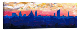 Canvas print  Leipzig Saxony Germany  Skyline at Dusk - M. Bleichner