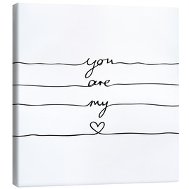 Canvas  You are my heart - Mareike Böhmer Graphics