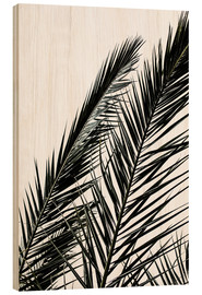 Wood  Palm Leaves - Mareike Böhmer Photography