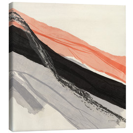 Canvas print  Peach and Black abstract - Jan Sullivan Fowler