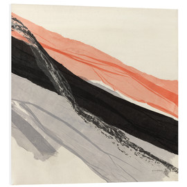 Foam board print  Peach and Black abstract - Jan Sullivan Fowler