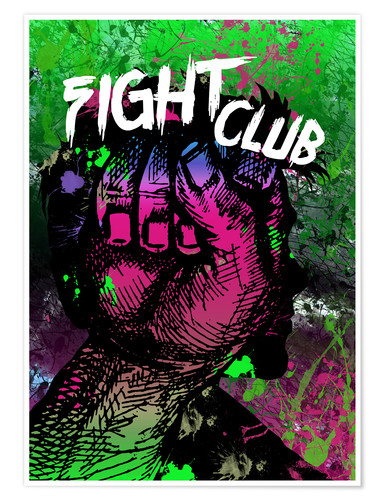 Premium poster Fight Club - Minimal alternative Film Fanart #2