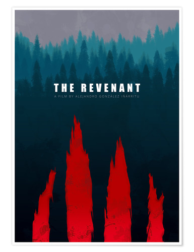 Premium poster The Revenant - Minimal Film Fanart alternative