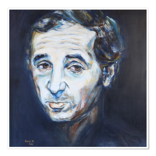 Poster Charles Aznavour, Hier Encore