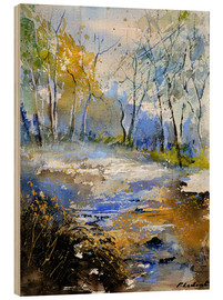Wood print  A clearing in the woods - Pol Ledent