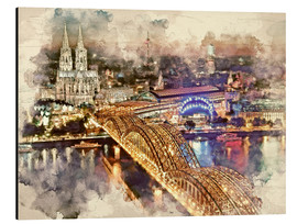 Alu-Dibond  Cologne Skyline Cologne Cathedral - Peter Roder