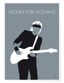 Premium poster Mark Knopfler, Money for nothing