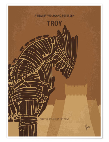 Premium poster No862 My Troy minimal movie poster