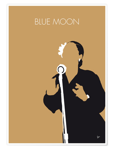 Premium poster No090 MY Billie Holiday Minimal Music poster