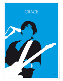 Premium poster No129 MY Jeff Buckley Minimal Music poster