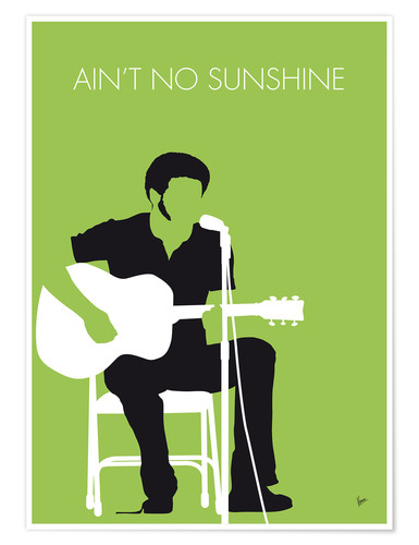 Premium poster No156 MY BILL WITHERS Minimal Music poster