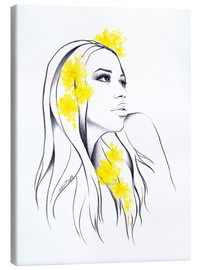 Canvas  Yellow flowers - EDrawings38