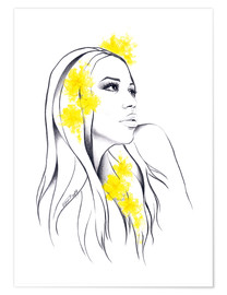 Premium poster Yellow flowers