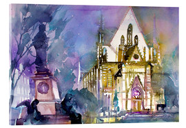 Acrylic print  Leipzig, Thomas Church - Johann Pickl