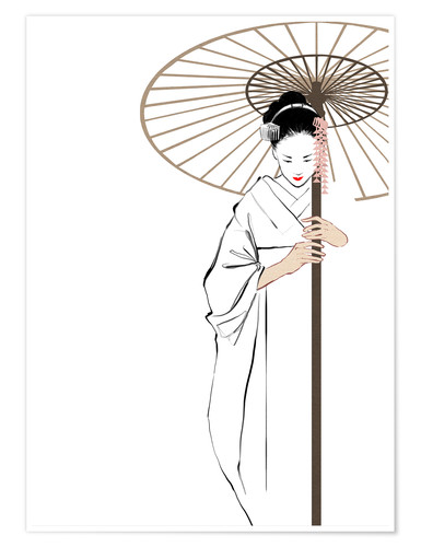 Premium poster The Geisha