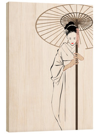 Wood print  The Geisha - Wadim Petunin