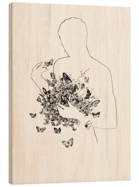 Wood print  Butterflies in the stomach - Wadim Petunin