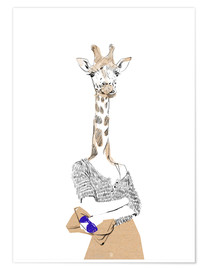 Poster Fashion giraffe