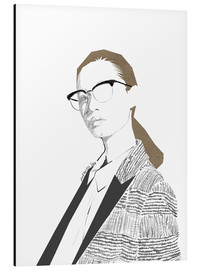 Aluminium print  Fashion Illustration IV - Wadim Petunin