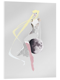 Acrylic print  Girl on the moon - Wadim Petunin
