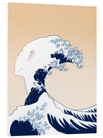 Foam board print  Tribute to Hokusai - Wadim Petunin