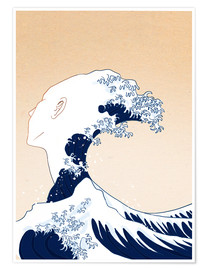 Premium poster Tribute to Hokusai