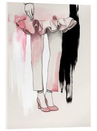 Wadim Petunin - Pink shoes fashion illustration