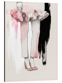 Aluminium print  Fashion illustration Pink shoes - Wadim Petunin