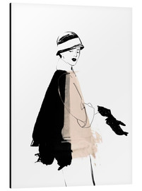 Alu-Dibond  20s Fashion Illustration - Wadim Petunin