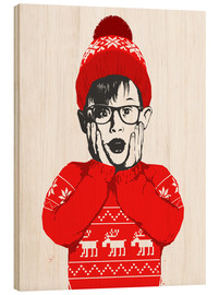 Wood print  Home alone - Nikita Korenkov
