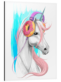 Alu-Dibond  Unicorn in headphones - Nikita Korenkov