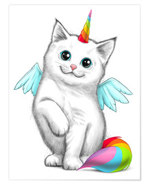 Premium poster Cat unicorn