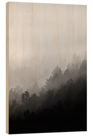 Wood print  Misty mornings - Mareike Böhmer