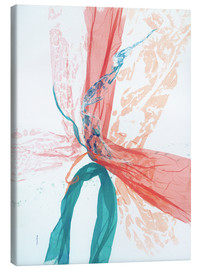 Canvas  Peach and Teal abstract - Jan Sullivan Fowler