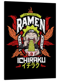 Aluminium print  Naruto eating a bowl of ramen - Barrett Biggers