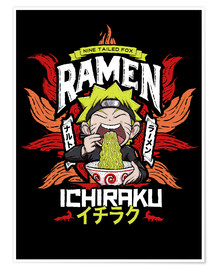 Premium poster Naruto eating a bowl of ramen