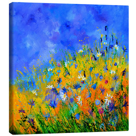 Canvas print  Wildflowers in the cornfield - Pol Ledent