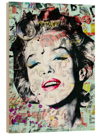 Wood print  marilyn monroe - Mark Ashkenazi