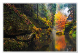 Premium poster Kamnitz Gorge in the Saxon Switzerland