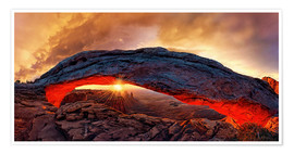 Premium poster Mesa Arch Sunrise, Canyonlands National Park, Utah, USA